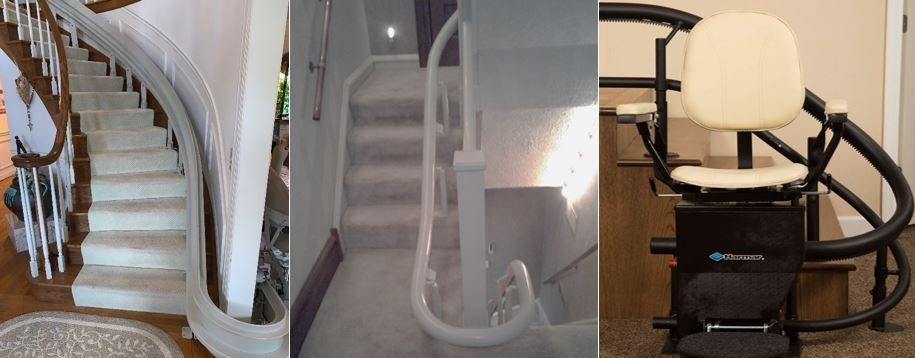 curved-stairlift-rails-Bruno-Handicar-or-Harmar