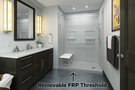 best-bath-shower-with-removable FRP threshold