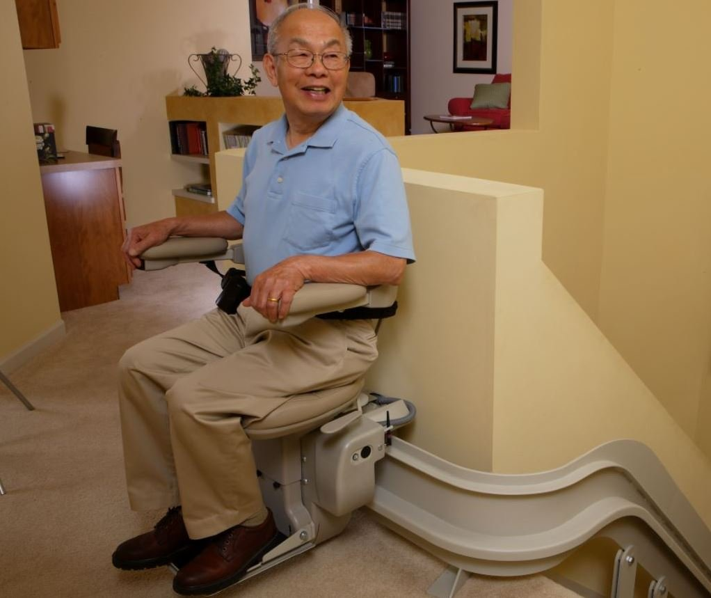independence regained with the installation of a stair lift