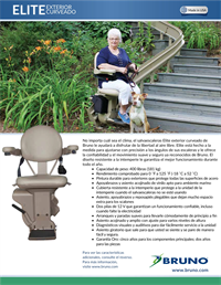 Lifeway-Bruno Elite Outdoor Curved Stair Lift Brochure preview image