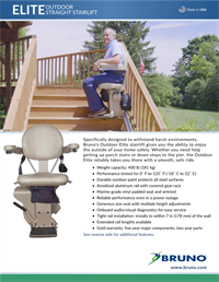 Lifeway-Bruno Elite Outdoor Stair Lift Brochure preview image