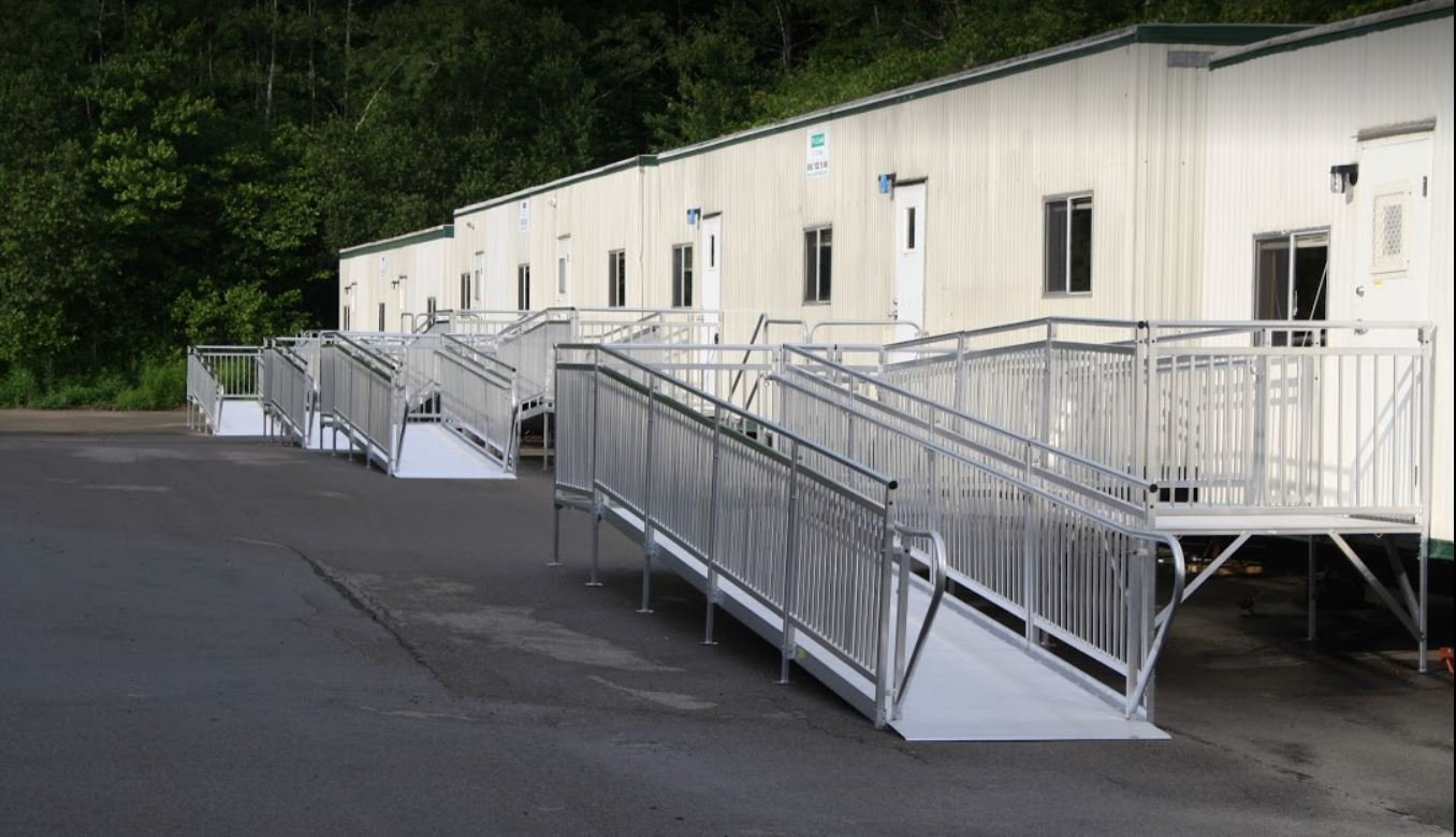 used ramps installed for temporary use for mobile homes