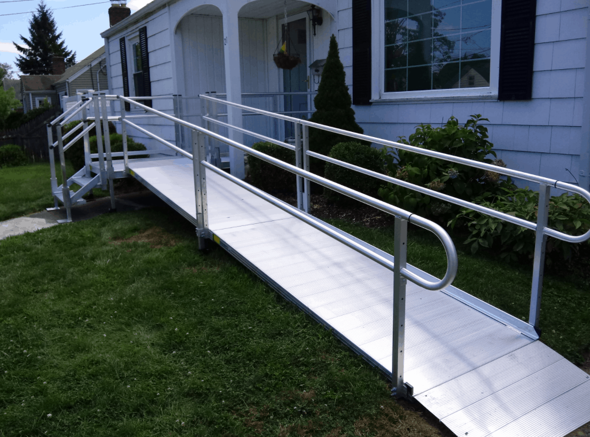 used aluminum wheelchair ramp for home access