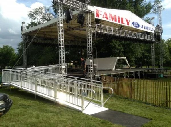 rental wheelchair ramp for concert in Connecticut