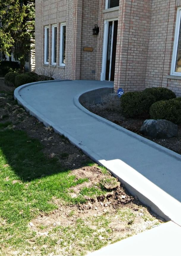 concrete ramp installed in Naperville, IL