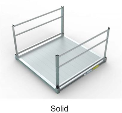 piece of aluminum ramp that has a solid metal surface