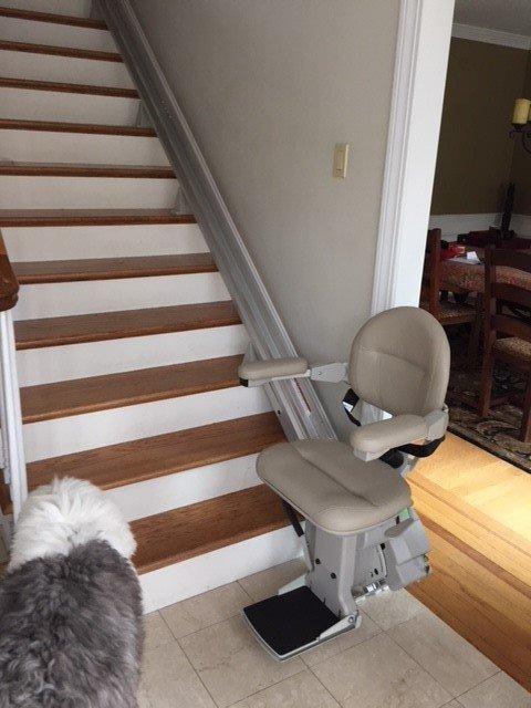 Bruno-Elite-stair-lift-at-bottom-landing-in-Concord-Connecticut.jpg