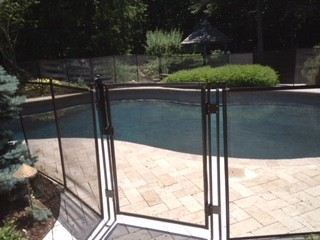 Protect A Child mesh pool fence for backyard of home in Fishers, Indiana