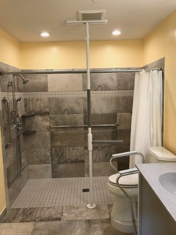 Roll-in shower installed in Sugar Grove, IL