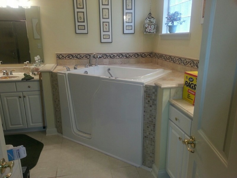 completed installation of a Best Bath walk-in tub in Indianapolis home