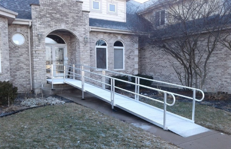 Modular ramp installed in Yorkville, IL