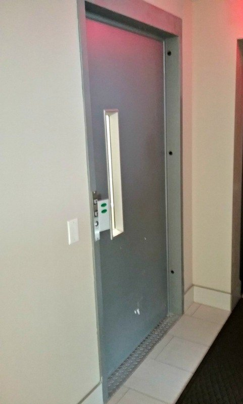door-of-commercial-platform-lift-installed-in-hositway-in-Cicero-by-Lifeway-Chicago.jpg