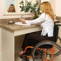 Wheelchair-accessible sink