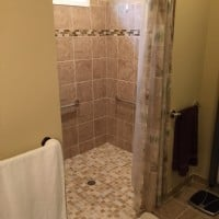 Walk-in shower-installation-in-home-in-Naperville-IL-by-Lifeway-Chicagoland