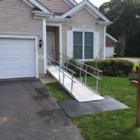 EZ Pathway 3G Aluminum ramp installation by Lifeway Mobility in Connecticut