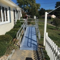 aluminum modular wheelchair ramp for front door access
