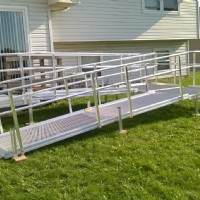 Aluminum modular wheelchair ramp installed in Joliet, IL