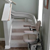 Bruno Elite curved stair lift installed in a local home