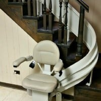 Custom curved Bruno Elite stair lift installed in Darien, IL