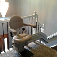 Bruno Elite curved stair lift installed for a veteran in Bartlett, IL