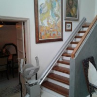 Bruno Elan straight stair lift installed in Glenview, IL