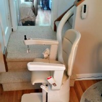 Handicare Freecurve stair lift installed in a local home