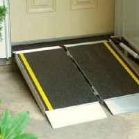 Portable wheelchair ramp for home use