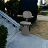 Bruno Elite Straight Outdoor Stair Lift installed in Chicago, IL