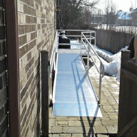 Aluminum modular wheelchair ramp installed in Northbrook, IL