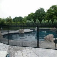 Cottage Pool Fence, Side View