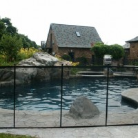Client Using Cottage Pool Fence