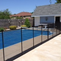 Protect A Child mesh pool fence