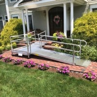 Lifeway-Mobility-ramp installation in front of nice home