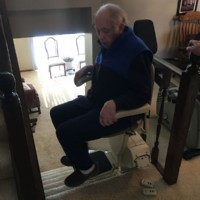 Lifeway-Mobility-Minneapolis-customer-takes-his-first-ride-on-Harmar-SL600-stairlift.JPG