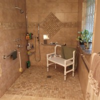Wheelchair-accessible shower