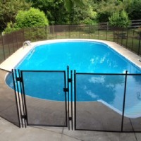 Oval Protect A Child mesh pool fence in Indiana