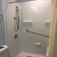 Renovative Bath Systems pale blue barrier-free shower