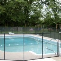 Pool Fence Near Playground installed by Lifeway Mobility Indianapolis