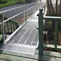 Aluminum modular wheelchair ramp installed in McHenry, IL