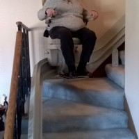 Bruno Elite custom curved stair lift installed in Belvidere, IL