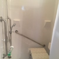 Renovative Bath Systems: Modular white barrier-free shower
