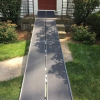 Suitcase Trifold AS Ramp, installed at front of home in Massachusetts