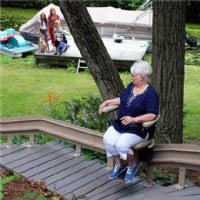>Bruno Elite Outdoor Curved Stair Lift