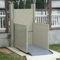 >Savaria M2Lift Outdoor Vertical Platform Lift