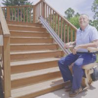>Bruno Elite Outdoor Straight Stair Lift