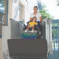 >Bruno 3100 Series Outdoor Vertical Platform Lift