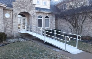 Image of Modular Wheelchair Ramp installed in Yorkville by EHLS