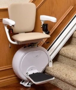 Savaria K2 Stairlift at Bottom Landing
